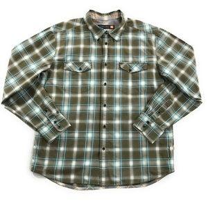 Quicksilver Mens Plaid Long Sleeve Shirt, Size XL